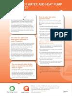 Solar Hot Water and Heat Pump Fact Sheet