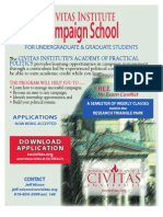 Academy of Practical Politics - Spring 2009 Application