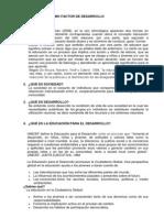 III Ciclo- La Educación Como Factor de Desarrollo