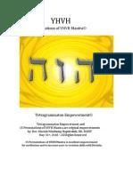 Permutations of YHVH Attunement