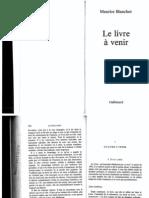 Le Livre à Venir de Maurice Blanchot