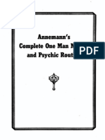 Annemann - Complete One Man Mental and Psychic Routine