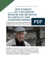 Entrevista Zygmunt Bauman