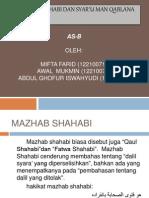 As-B, Ushul Fiqh Kelompok 11 (Syar'u Man Qablana Wa Madzhab Shohabi)
