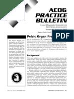 ACOG Pelvic Organ Prolapse