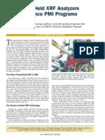 Handheld Xrf Analyzers - Advance Pmi Programs
