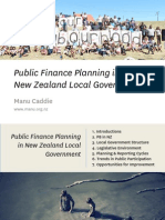 Public Finance Planning in New Zealand Local Government
