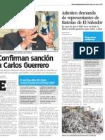 Confirman sanción a Guerrero