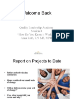 SFGH Quality Leadership Training