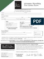 SOUL Pre-Order Form
