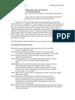 standard 11 professional ethnics and legal mandates