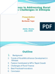 Innovations in Addressing Rural Finance Challenges in Ethiop