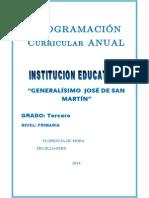 Programación Curricular 3° 2014