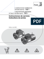 Manual High Eff Motors Cat TX11 Edition July 2012 Es