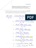 Intro to First Derivative