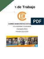 Plan de Trabajo CDE - Por estudiantes que hagan su taREA, 2014