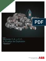 Motores de CA y CC a Prueba de Explosión BALDOR _ ABB