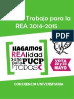 Plan de Trabajo Coherencia REA 2014 - 2015