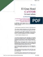 El Gran Hotel Cantor- Un Hotel Infinito. Cuento de Hilbert