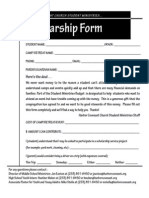 Scholarship Form Version 2010