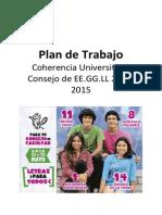 Plan de Trabajo Coherencia CONSEJO LETRAS 2014 - 2015