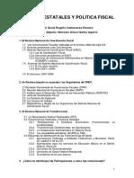 Temas de Finanzas Estatales y Politica Fiscal
