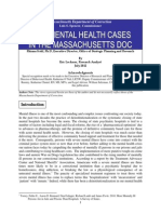 Open Mental Health Cases in the Massachuetts DOC