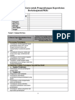 Format Evaluasi Diri Guru Untuk Pengembangan Keprofesian Berkelanjutan