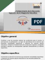 Programa de Fortalecimiento a La Educacion Especial