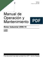 Motor Serie 2500 Manual de Operacion y Mantenimiento