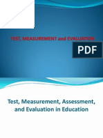 Test, Measurement & Evaluation