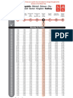 Redex (Trial) Timetable - as at 16 November 2009