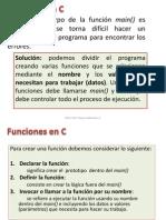 Funciones en el lenguaje C.