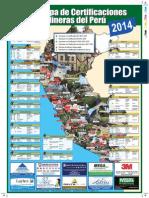 Mapa de Certificaciones Mineras 2014