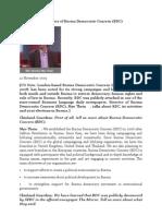 Interview With Director of Burma Democratic Concern (BDC)