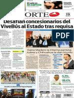 Periódico Norte edición impresa del día 19 de mayo del 2014
