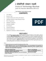 Ph.D. Information Brochure-roorkee