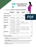 spanish gestational diabetes 1800-2400 cal