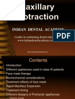 Maxillary Protraction Dr.M.M.varadharaja / orthodontic courses by Indian dental academy