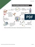 how antibiotic resistance spreads