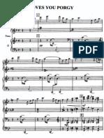 Gershwin - Arrangement - I Loves You Porgy - Piano 4 Hands (6P)