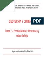 APOYO Tema Permeabilidad, Filtraciones y Redes de Flujo