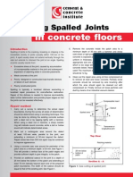 Repairing Spalled Joints in concrete floors
