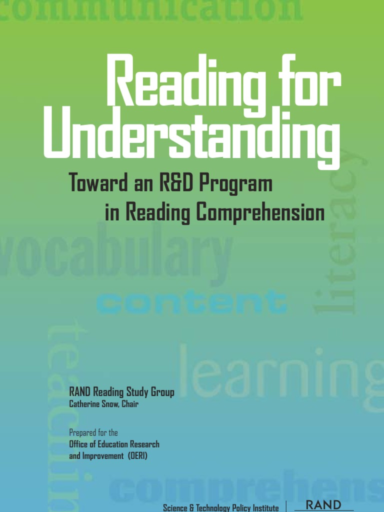 Reading for Understanding | Reading Comprehension | Educational ...