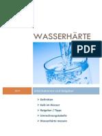 Wasserhärte Information