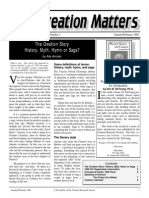 Creation Matters 1998, Volume 3, Number 1