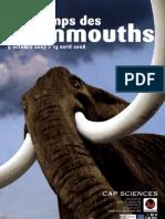"""Dossier pédagogique """"Au temps des mammouths"""""""
