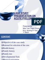 CASE STUDY ON ACUTE PYELONEPHRITIS