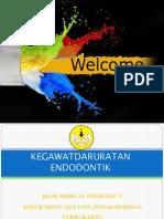 Kegawatdaruratan Endodontik Drg.bambang