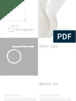 Raumgestalt Product Brochure 2014